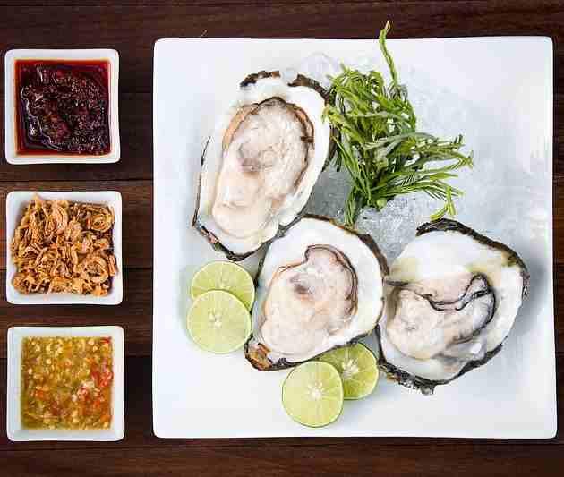 East coast oysters have a brinier taste.