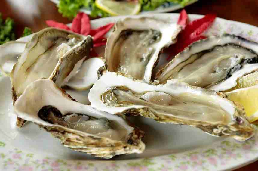 West coast oysters have a distinct salty flavor